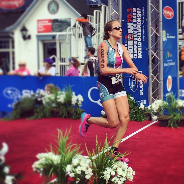 My resilient sister crossing the finish line.