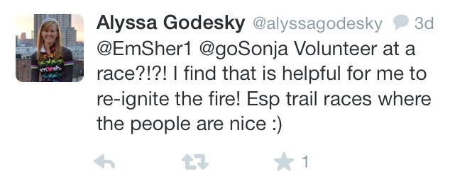 Sage advice from  Alyssa