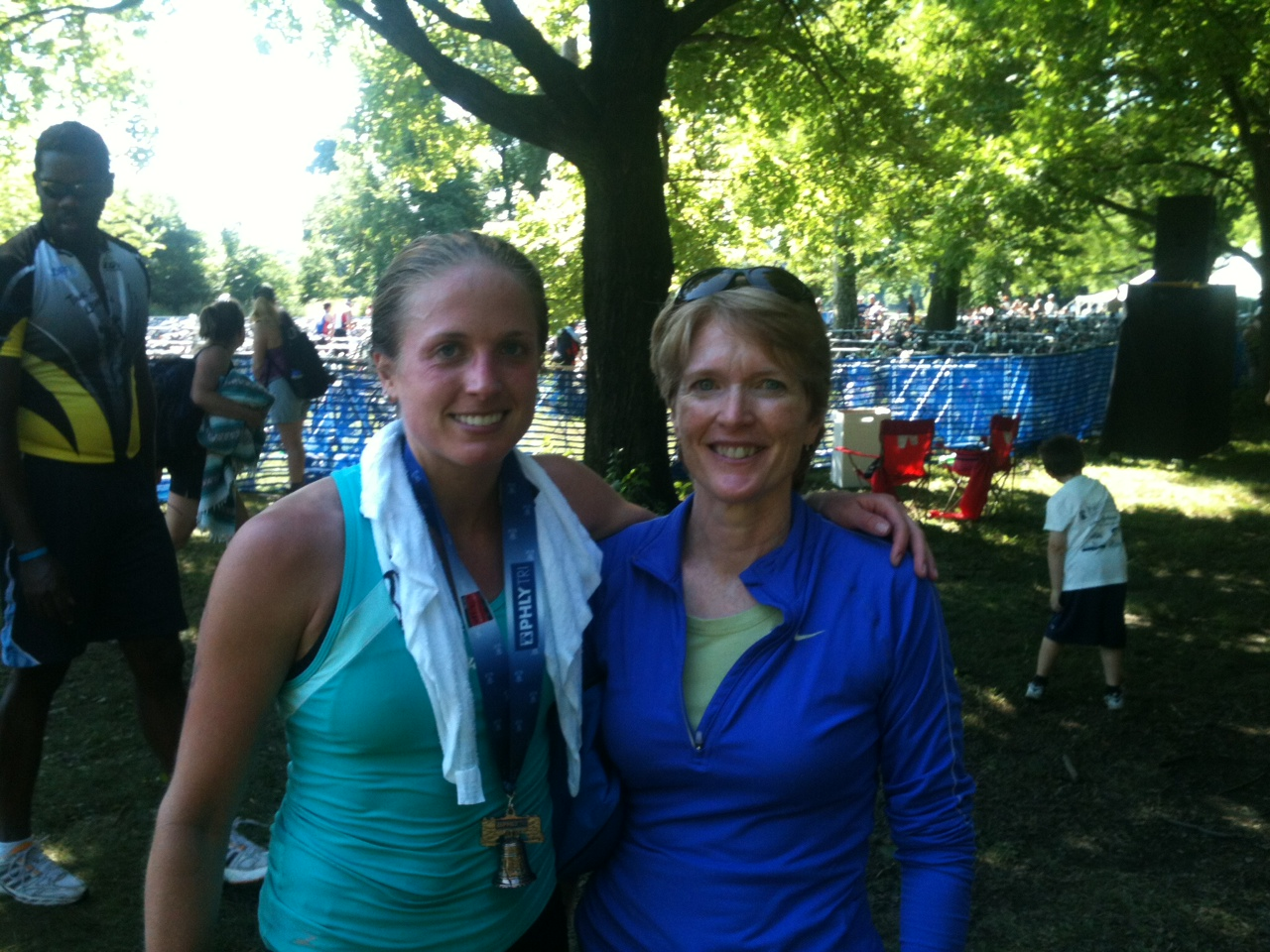Me and Mom at my very first race, the Philly Tri.