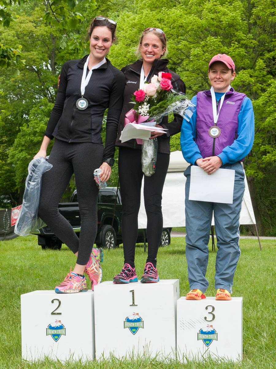 Overall Women's Podium.  Photo Credit  Mark Stehle Photography