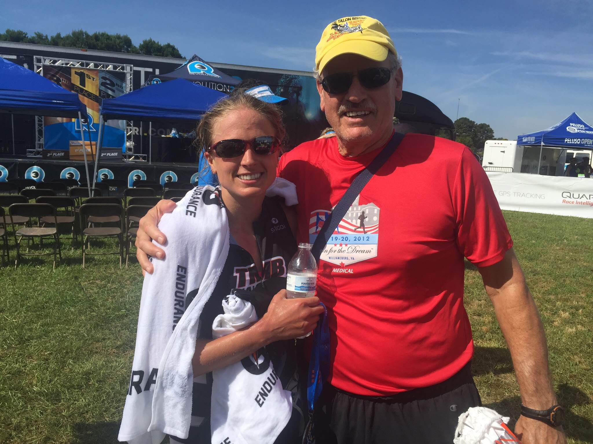 My Sherpa and Cheerleader, Dr. Ron, and I at the finish