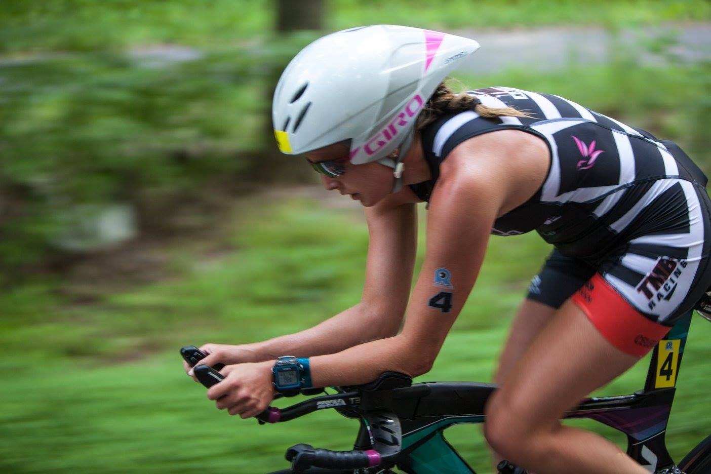 Trying not to panic on the bike.  Photo Credit: Revolution3 Triathlon.