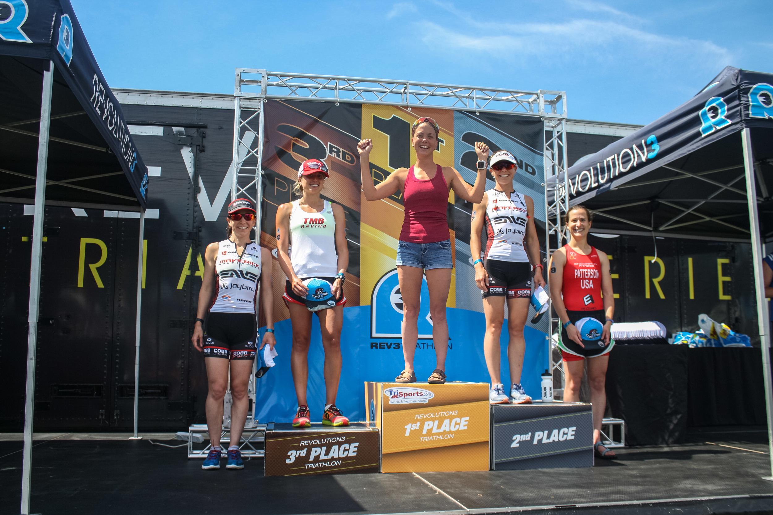 The podium.  Photo credit (and photoshop): Revolution3 Triathlon