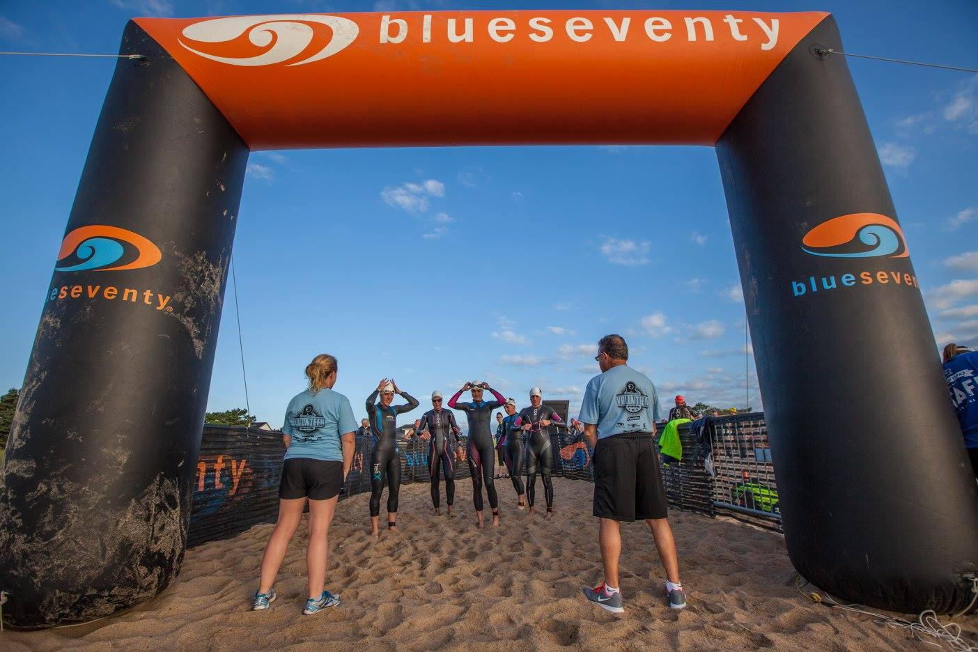 Lining up before the start and getting in the zone.  Photo credit:  Rev3
