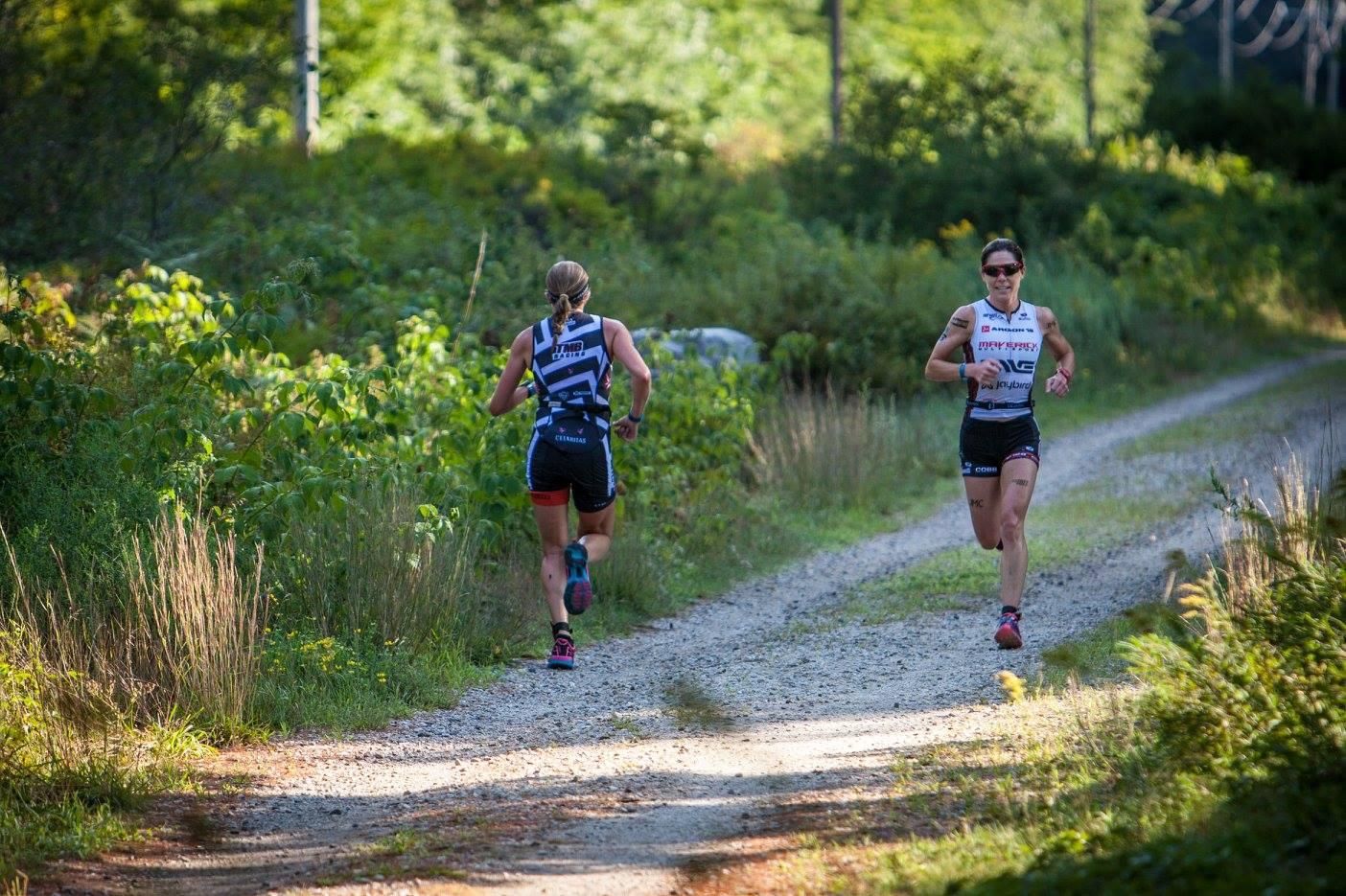 My backside running past Laurel before the turn around.  Photo credit:  Rev3