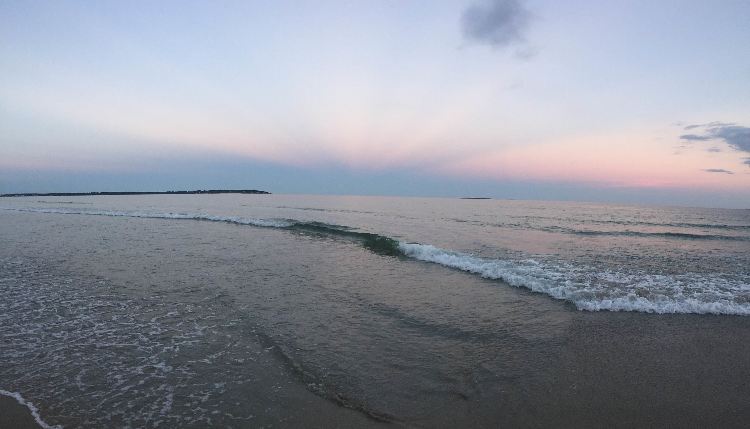 Looking out over Saco Bay at Twilight.
