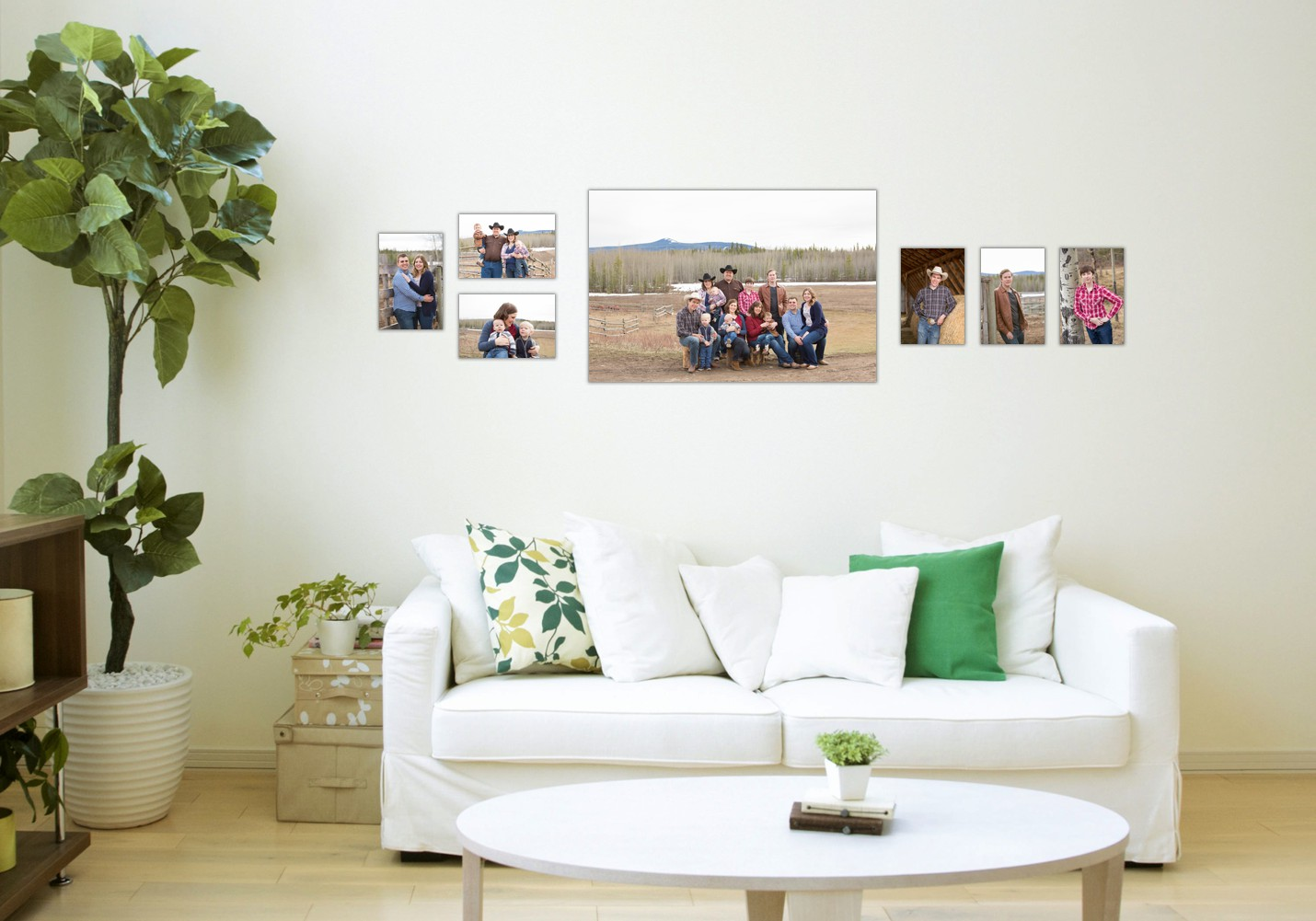 I can show you how you images will look in your home!