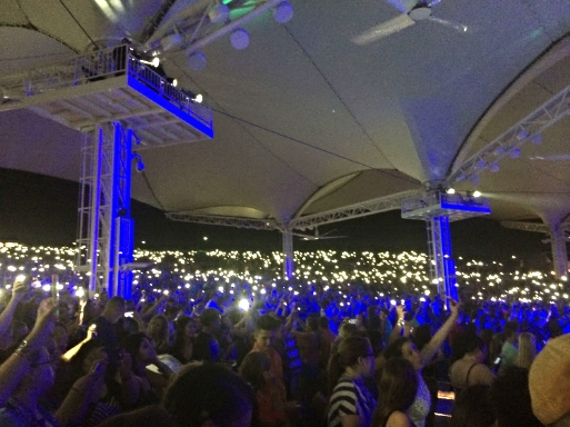 A scene from this past summer's BSB concert. I took a moment to look back and see how many people came out for a 90s boy band and I was just floored. We're not alone ladies...