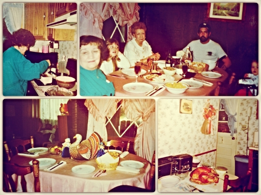Thanksgiving circa 1990 - My family dynamic has greatly changed since then, but I am thankful for these memories and for the pictures that keep them alive.