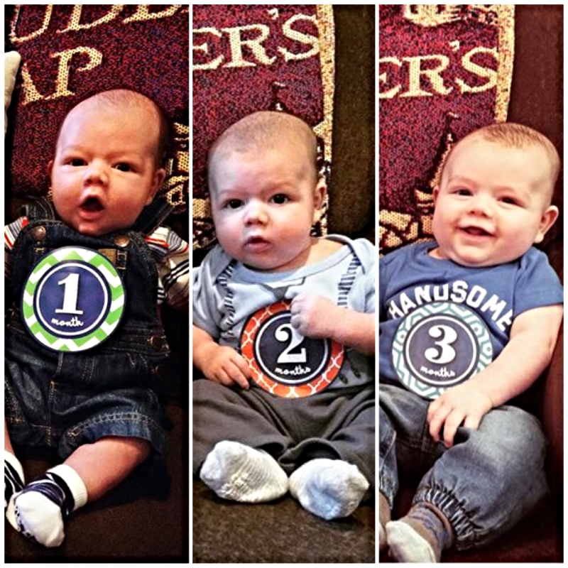 My baby has changed so much in three short months. Putting these photos next to each other really drives it home for me.