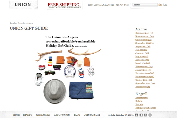 Union Holiday Gift Guide 2011 @seeplusco press clip