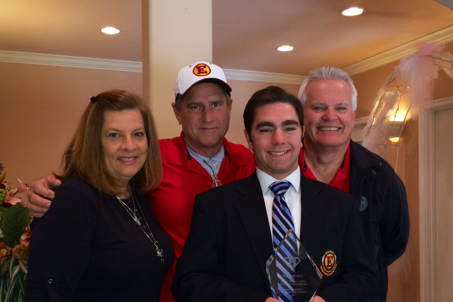 "Zach Shafer [2013]   Brian ""Bubba"" Kapko Football Scholarship  EHS Varsity Football Team Awards"