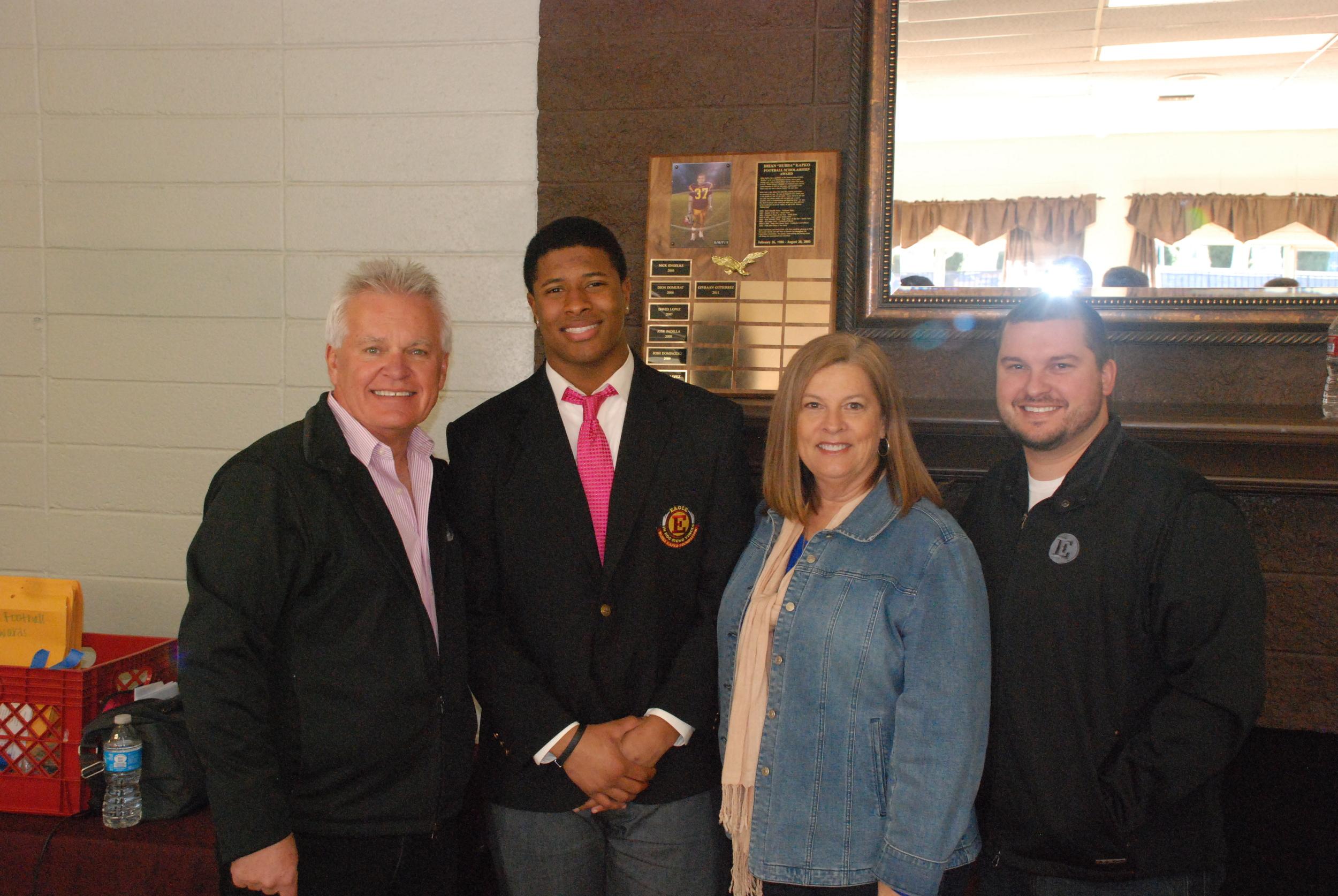 "DeionTe Haywood [2012]   Brian ""Bubba"" Kapko Football Scholarship  EHS Varsity Football Team Awards"