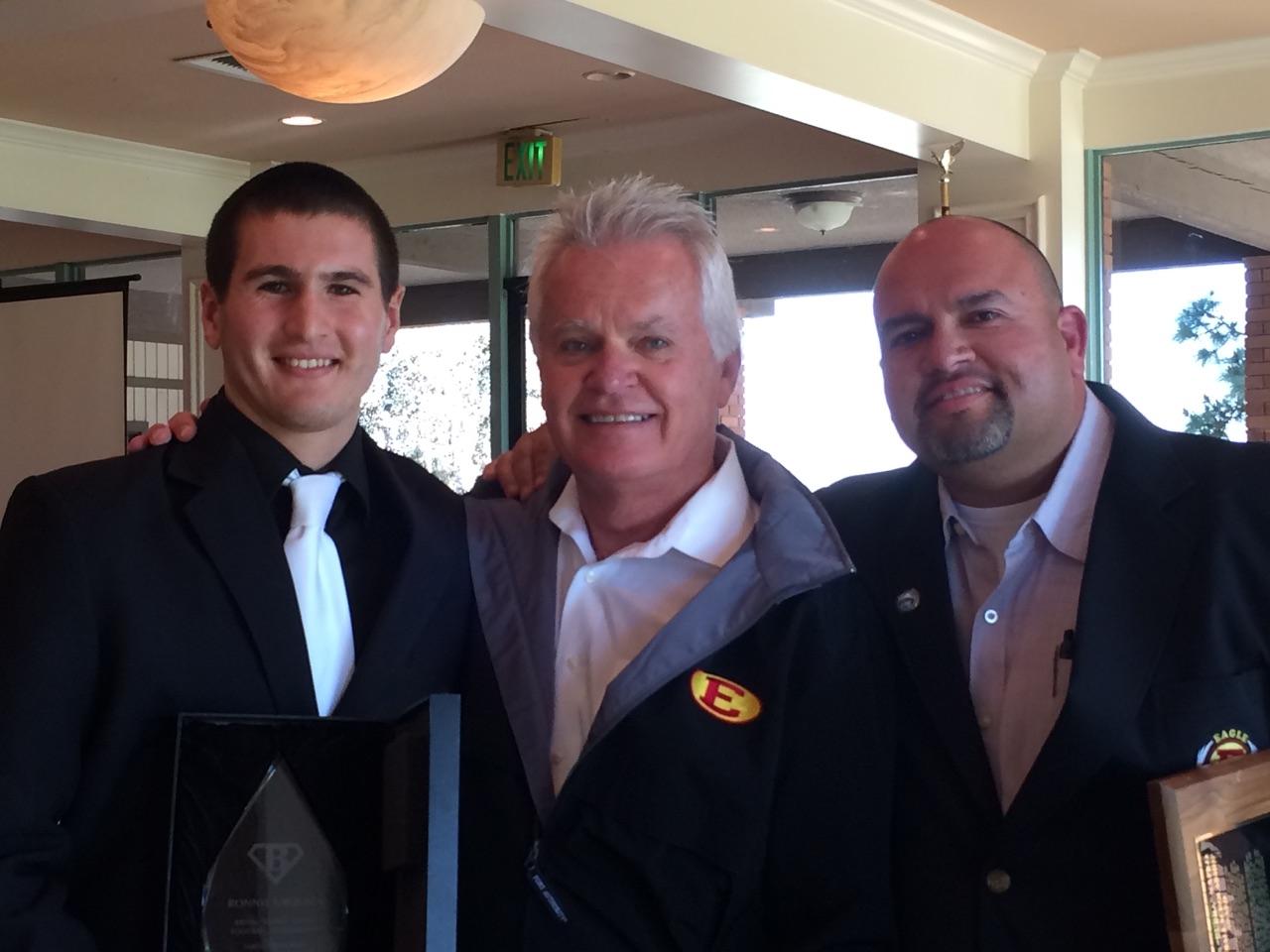 "Ronnie Urquiza [2014]   Brian ""Bubba"" Kapko Football Scholarship  EHS Varsity Football Team Awards"