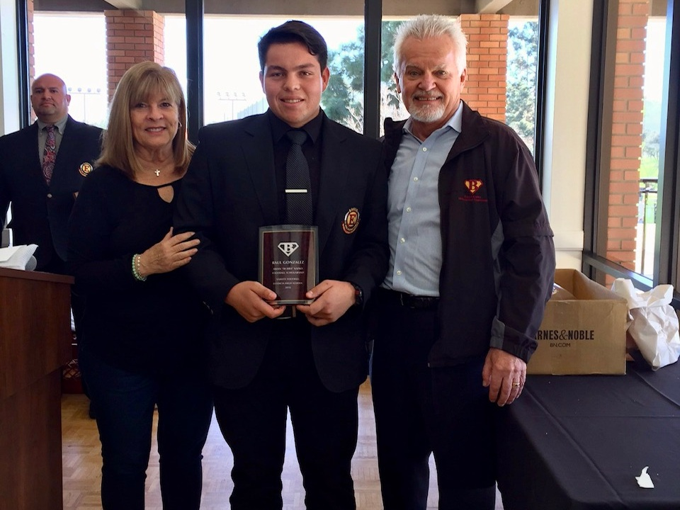 "Raul Gonzales [2018]   Brian ""Bubba"" Kapko Football Scholarship  EHS Varsity Football Team Awards"