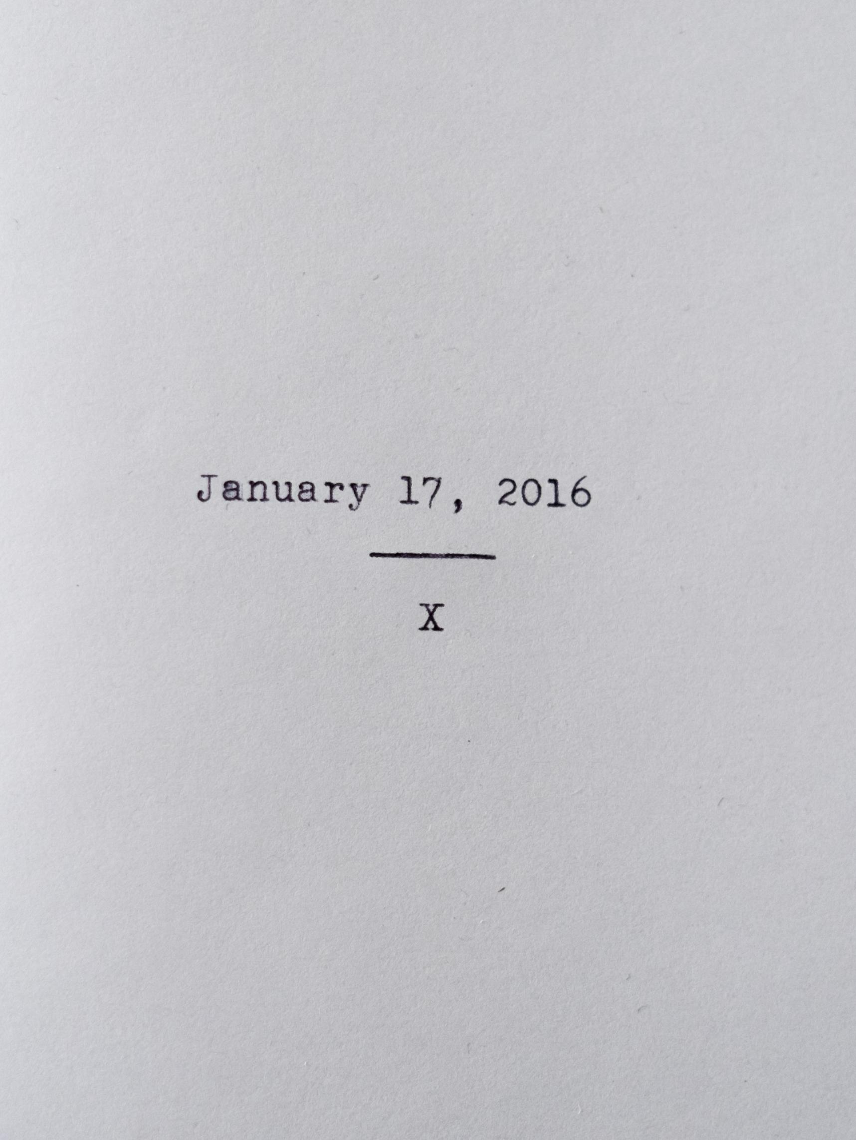 Zine No. 3: January 17, 2016  Read Here