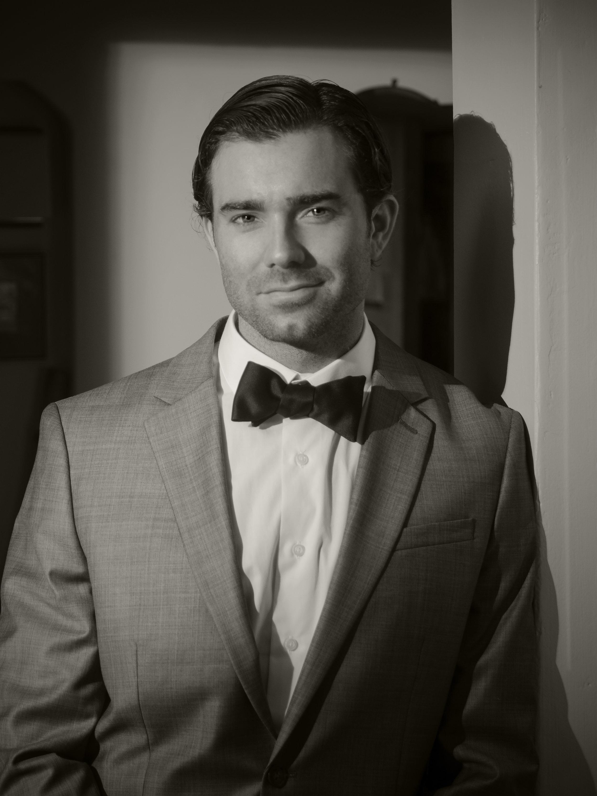 Jacob grey suit bow-tie_5 B&W.jpg
