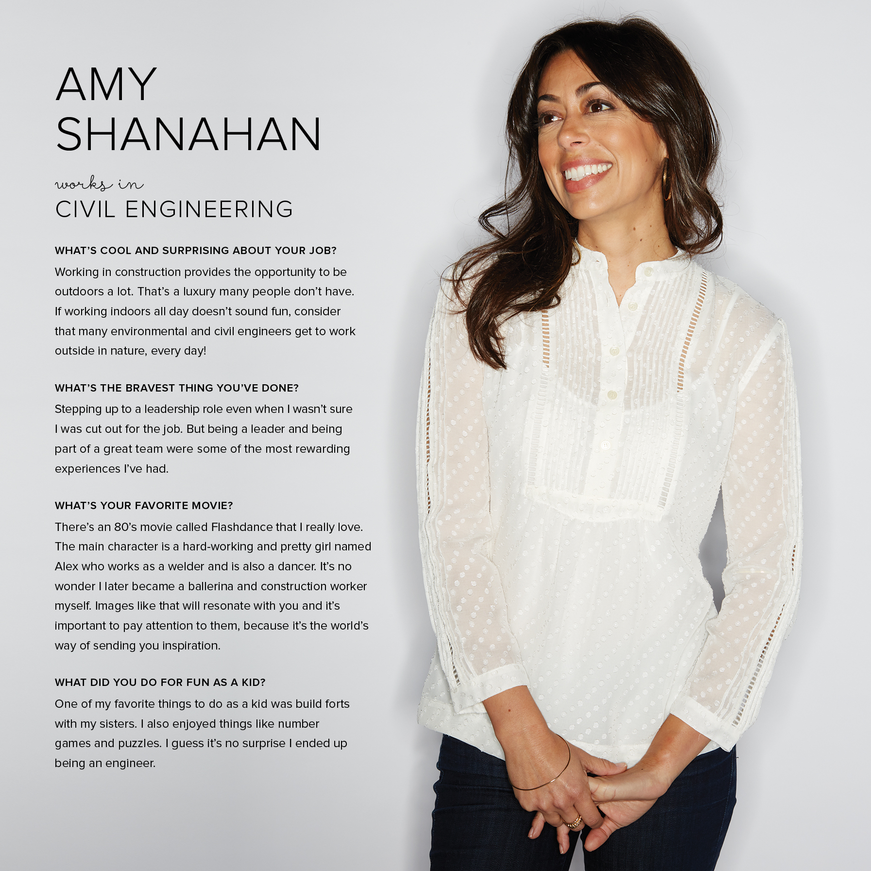 Meet Amy Shanahan - a role model that girls can relate to, profiled to educate and inspire