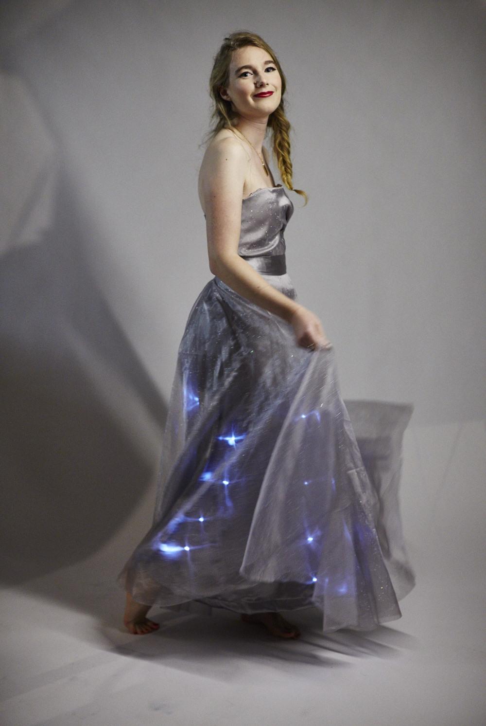 Michelle Warner's dazzling DIY dress