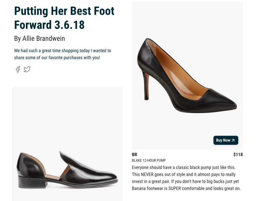 SHOES - I wanted to share some of the footwear that I helped my client pick out today! Click the image or follow the below link to shop! xx yours in style, AB