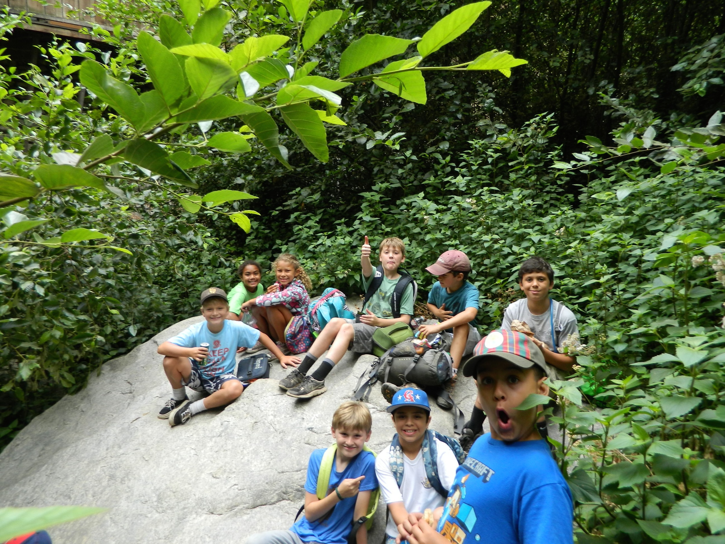 """Older Summerkids on a """"four-period"""" hike"""