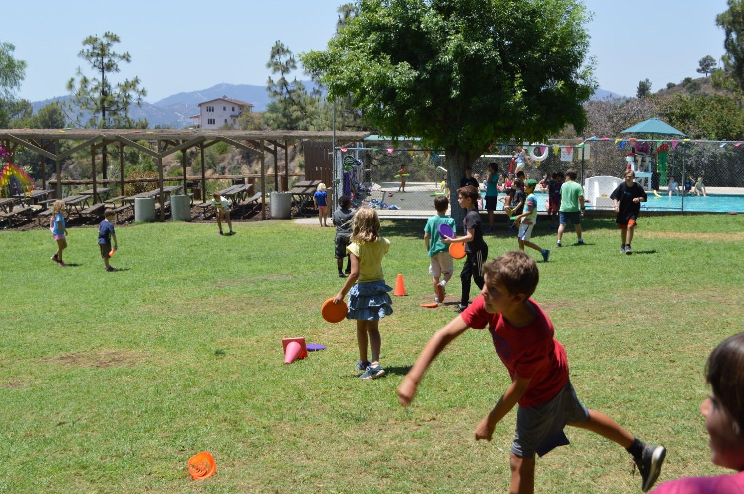 """or one of our many """"camp-created"""" games. (This is Frisbee Wars.)"""