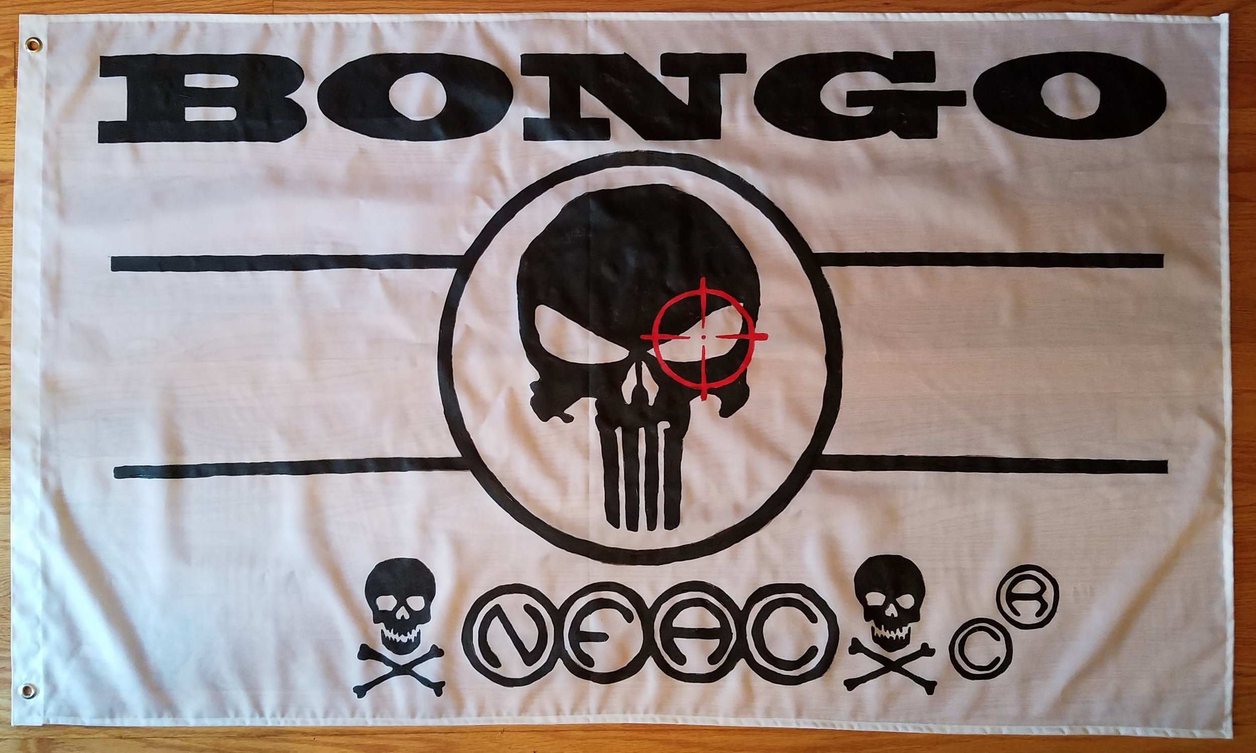 Tock Custom - Bongo Punisher Flag