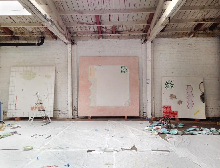 Morris's studio in Los Angeles, November 2013