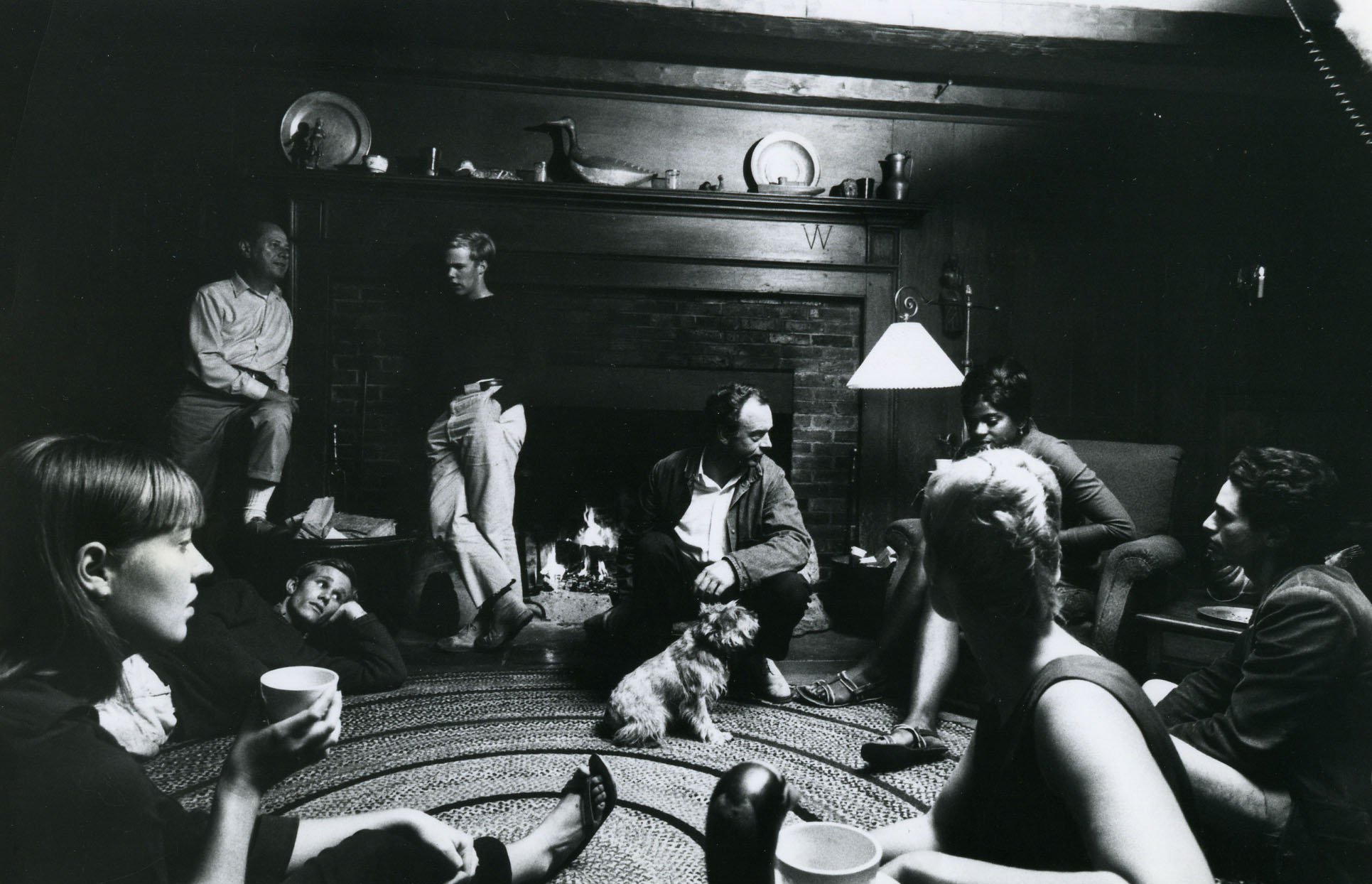Co-founder Willard Cummings hosting participants in The Red Farm, circa 1965.