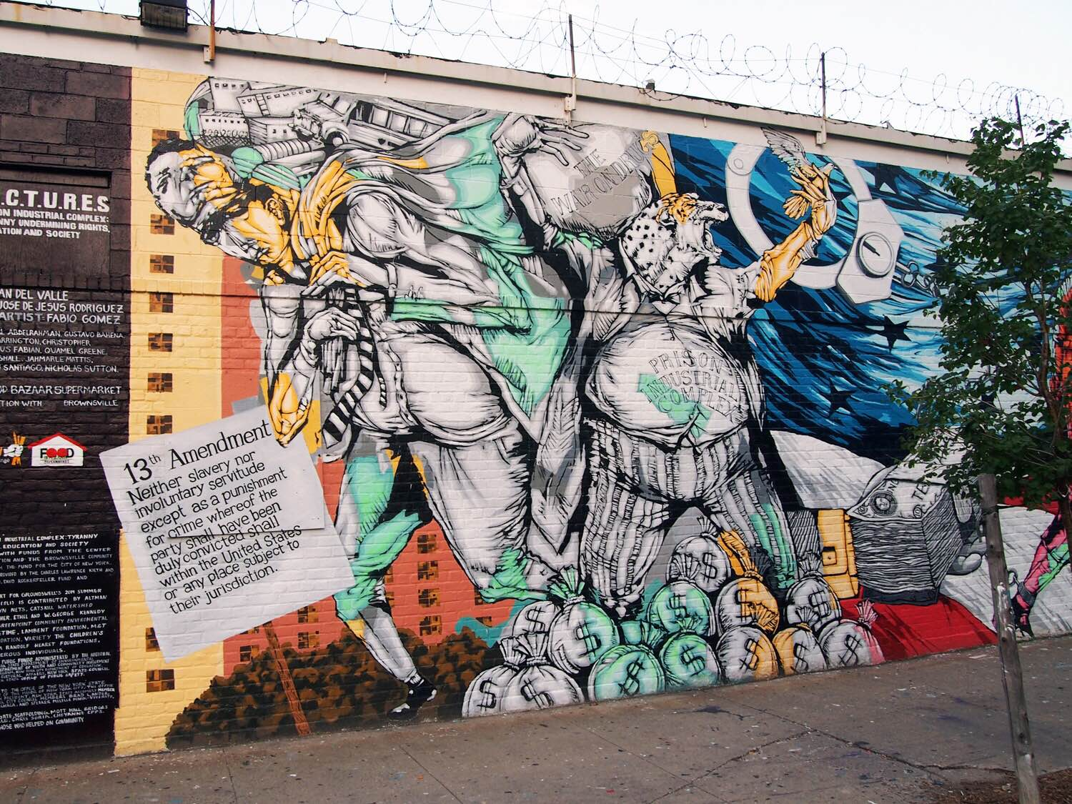 P.I.C.T.U.R.E.S. a collaborative mural project in Brownsville, Brooklynwith Groundswell youth artists