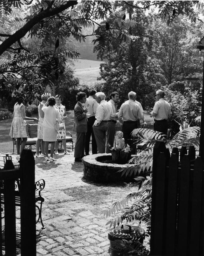 Red Farm patio, 1960