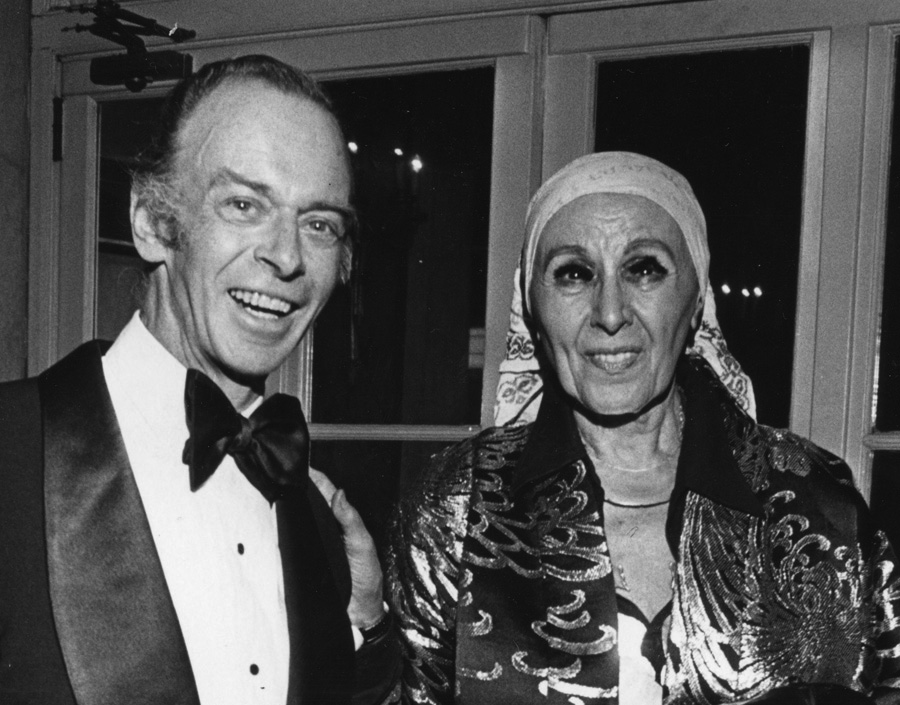 Willard Cummings with Louise Nevelson at the Awards Dinner, 1975