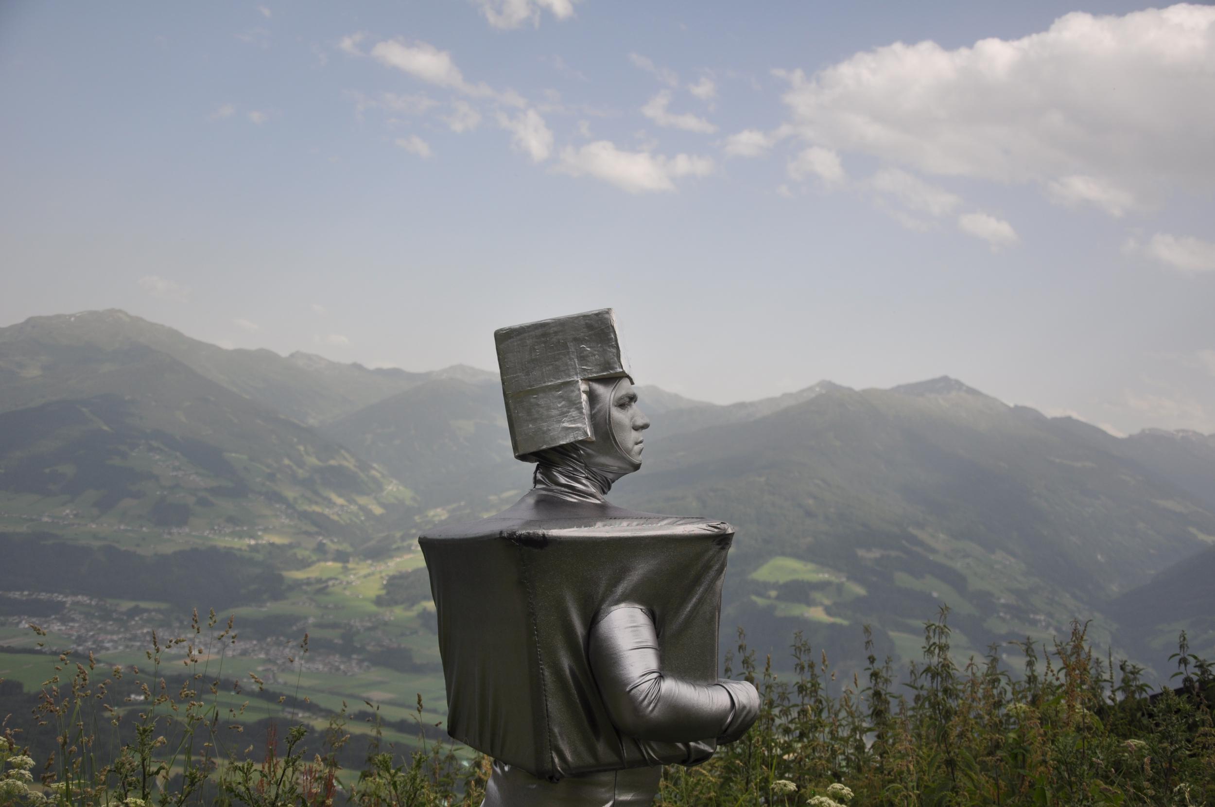 Nathan Boyer, still from  Robot's Alpine Quest  (2010)