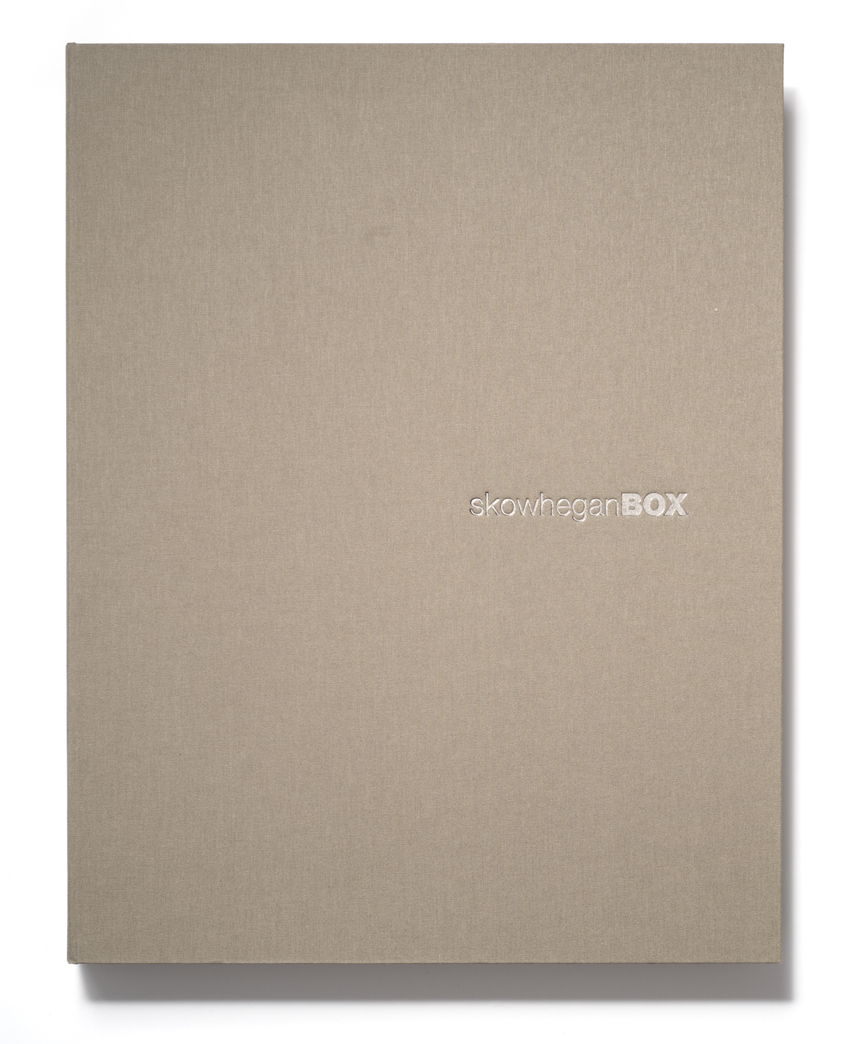 skowheganBOX no. 2, closed front cover.