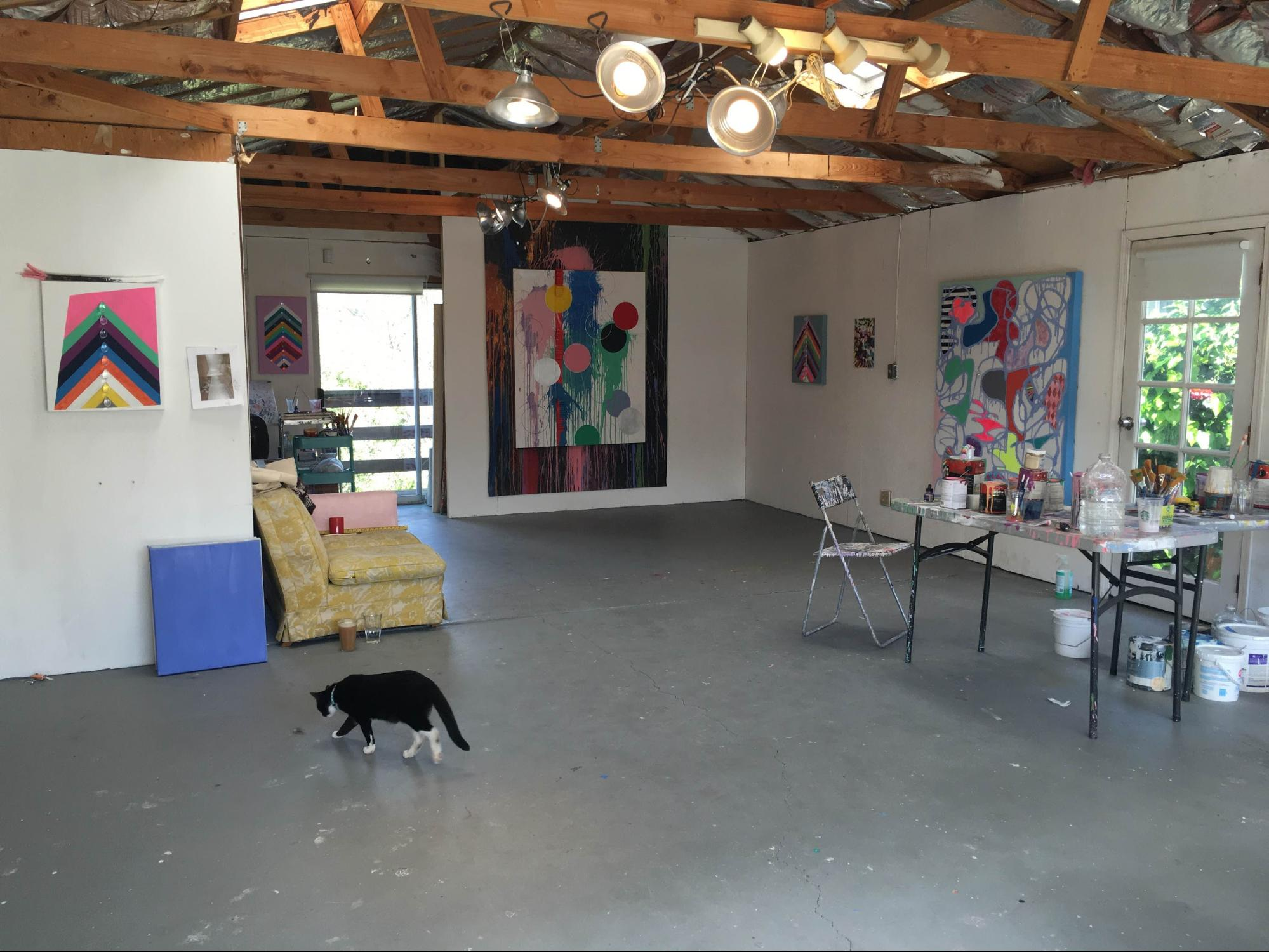 Sarah Cain's Los Angeles Studio, 2016