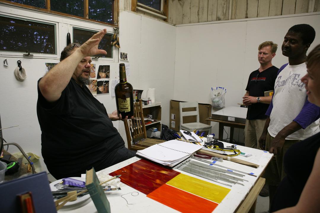 Martin Kersels, Craig Drennen, Arthur Simms on Skowhegan Campus, 2010