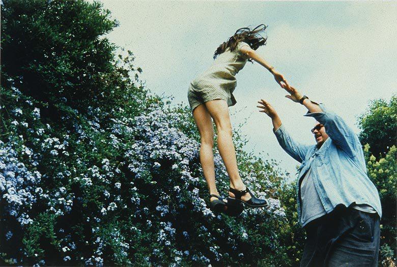 """Marin Kersels,  Tossing a Friend (Melinda #2)  (1996), Fujiflex print, 27x39"""""""