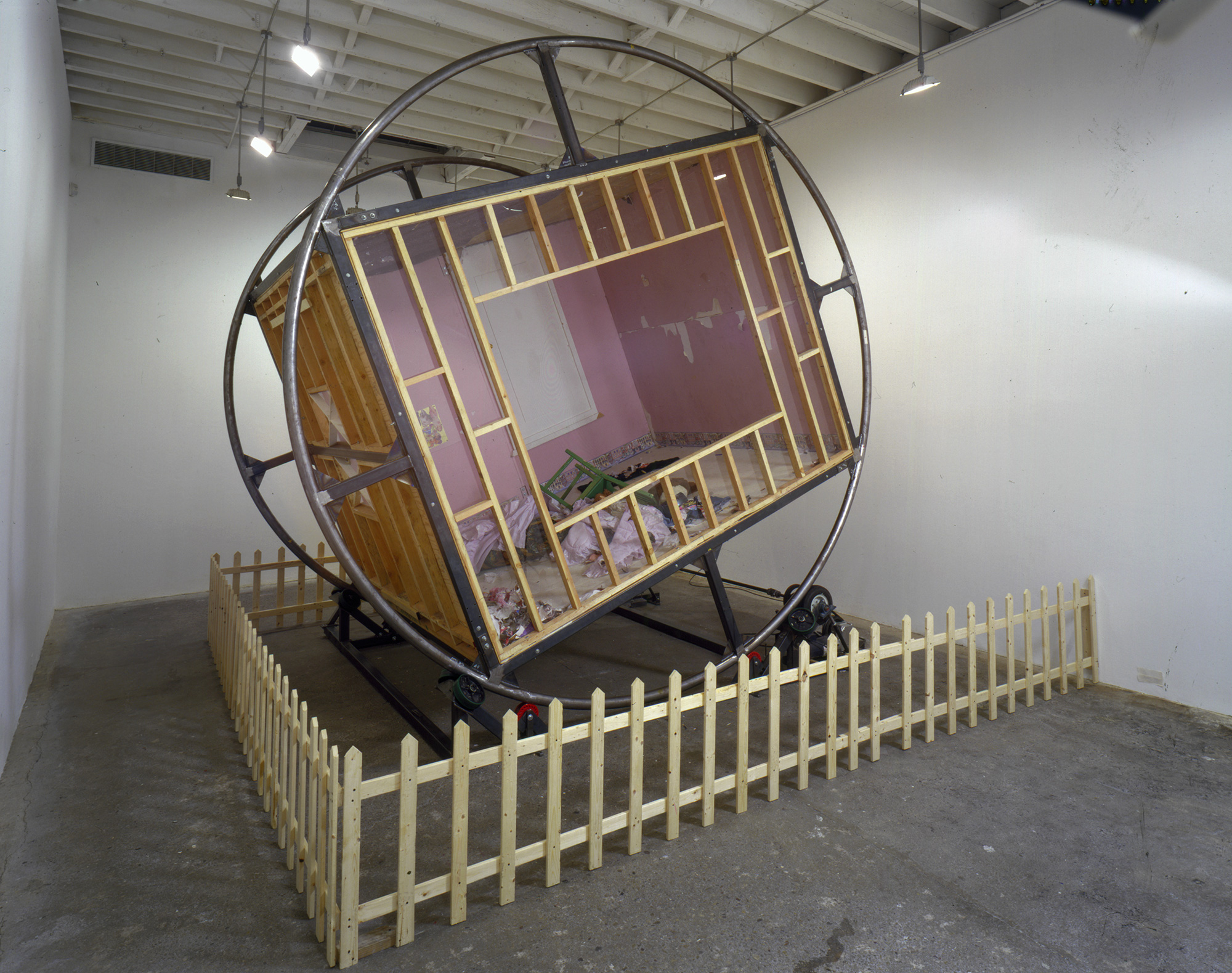 Martin Kersels,  Tumble Room  (2001), installation view at Deitch Projects, New York