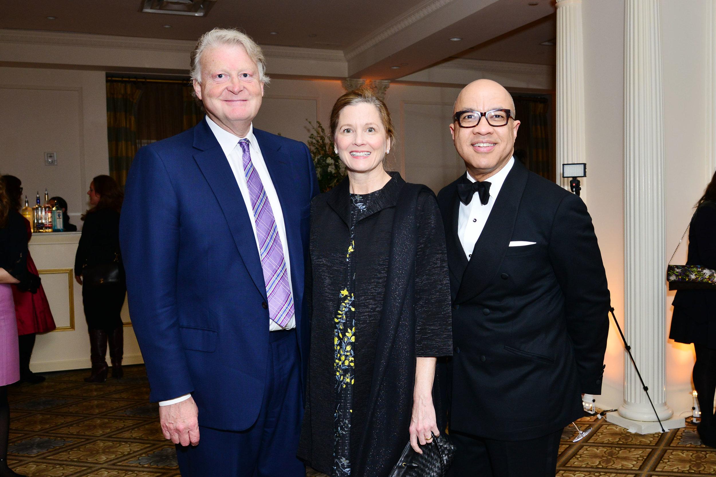 Edward Dolman, Samantha Gilbert, Darren Walker==Skowhegan 70th Anniversary Celebration & 2016 Awards Dinner== The Plaza, NYC==April 26, 2016==©Patrick McMullan==Photo – Jared Siskin/PMC==