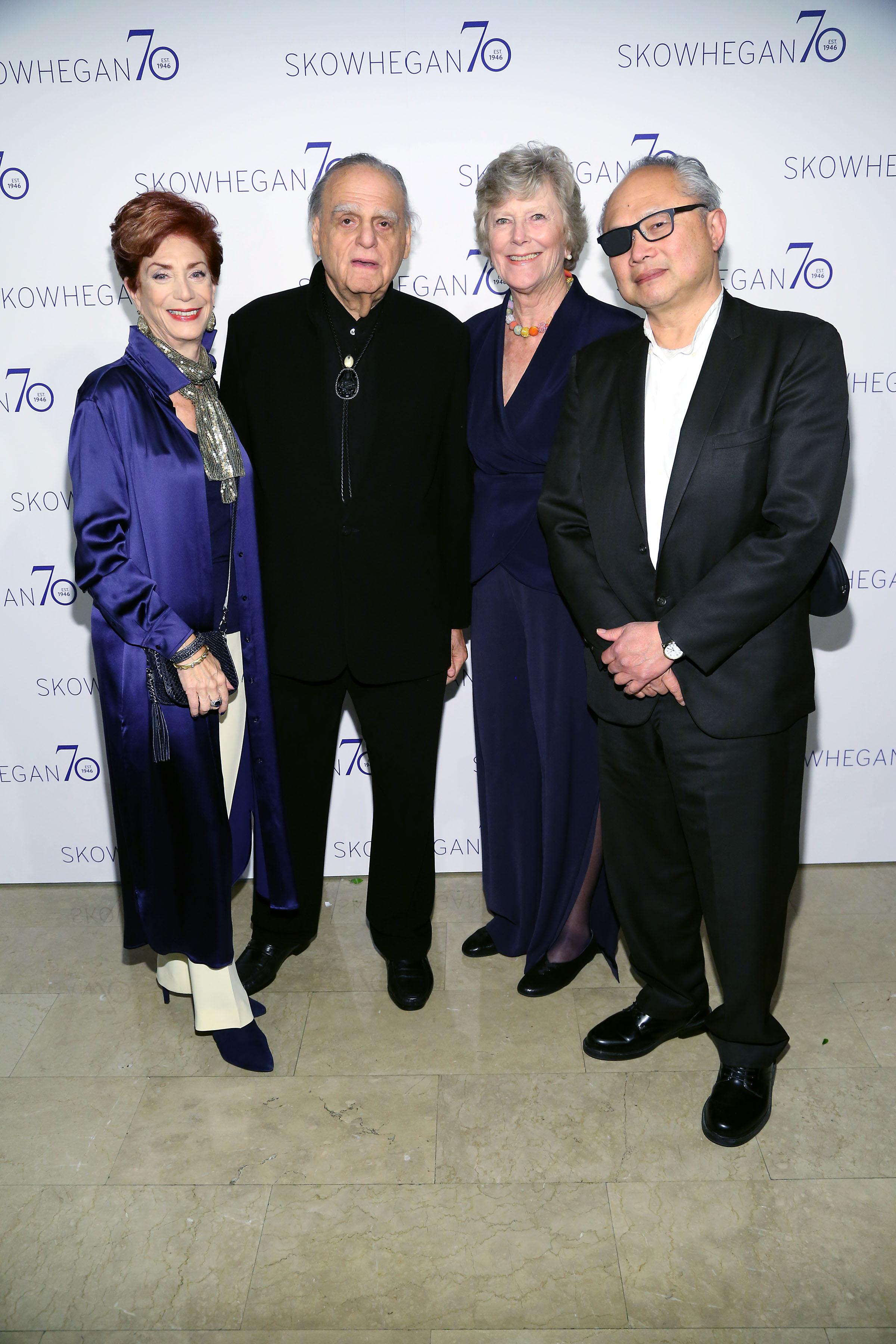 Shelley Rubin, Donald Rubin, Ann Gund, Mel Chin==Skowhegan 70th Anniversary Celebration & 2016 Awards Dinner==The Plaza, NYC==April 26, 2016==©Patrick McMullan==Photo: Sylvain Gaboury/PMC====