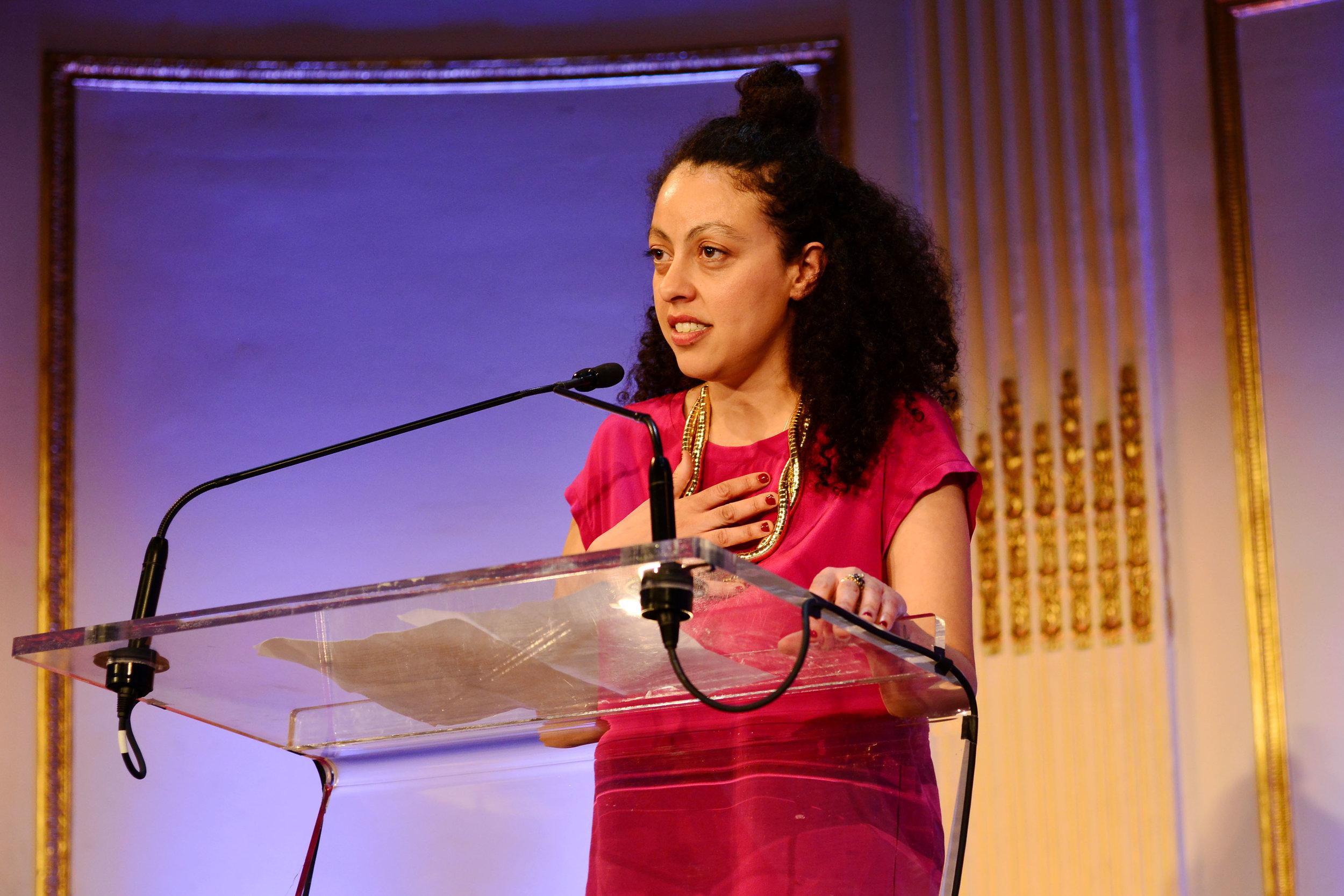 Sarah Workneh==Skowhegan 70th Anniversary Celebration & 2016 Awards Dinner== The Plaza, NYC==April 26, 2016==©Patrick McMullan==Photo – Jared Siskin/PMC==
