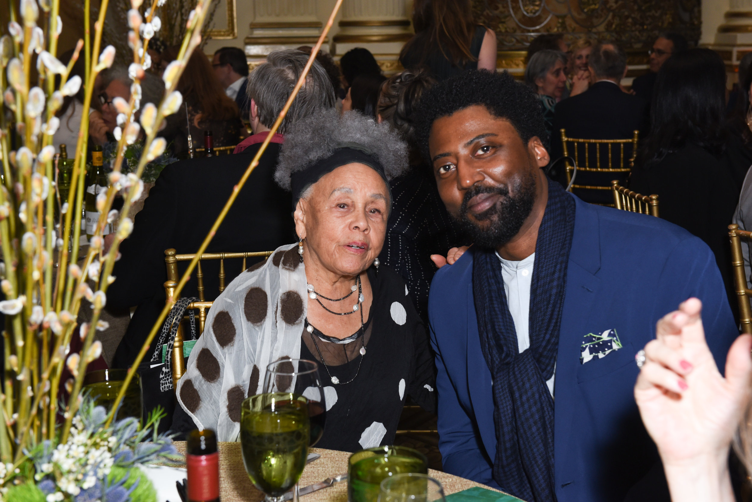 Betye Saar, LeRonn Brooks==Skowhegan Awards Dinner 2018==The Plaza Hotel, New York, NY==April 24, 2018==�Patrick McMullan==Photo - Presley Ann/PMC====