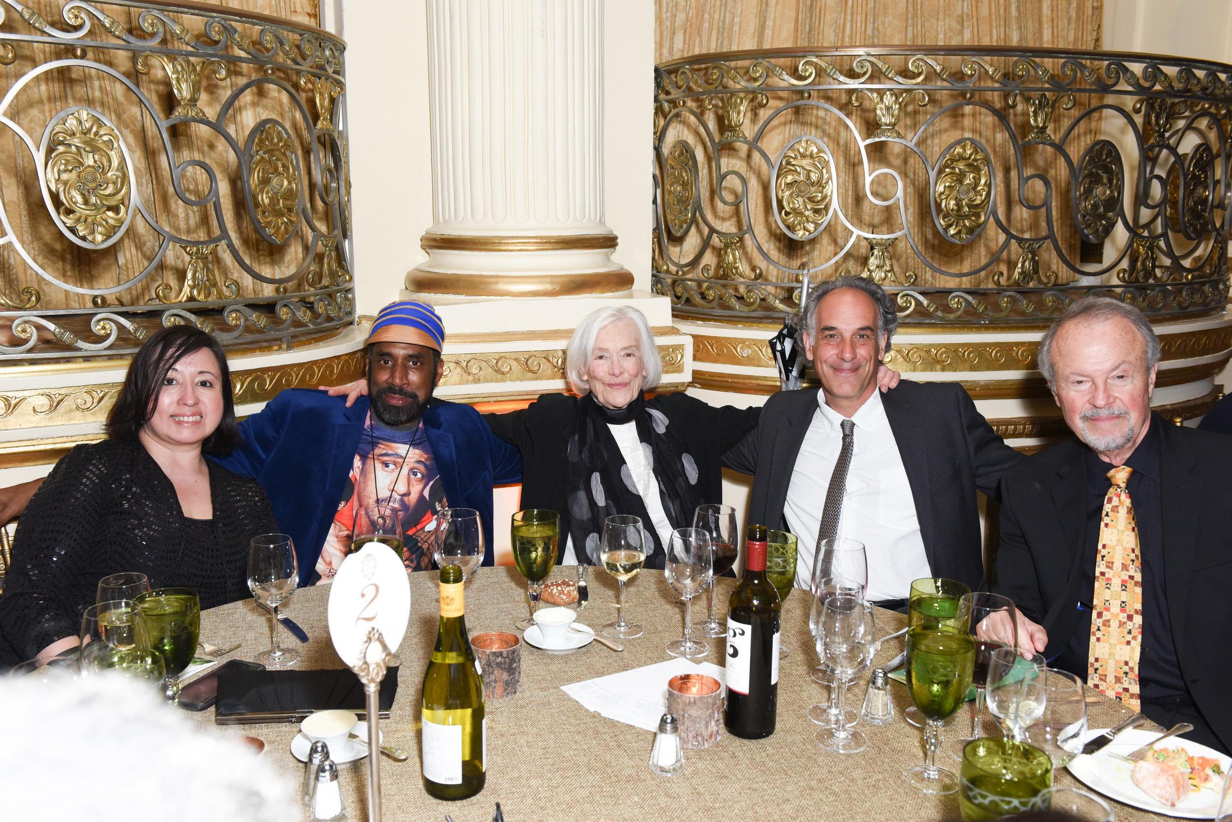 ?, ?, Barbara Lapcek, Jeffery Brown, Richard Lapchick==Skowhegan Awards Dinner 2018==The Plaza Hotel, New York, NY==April 24, 2018==�Patrick McMullan==Photo - Presley Ann/PMC====