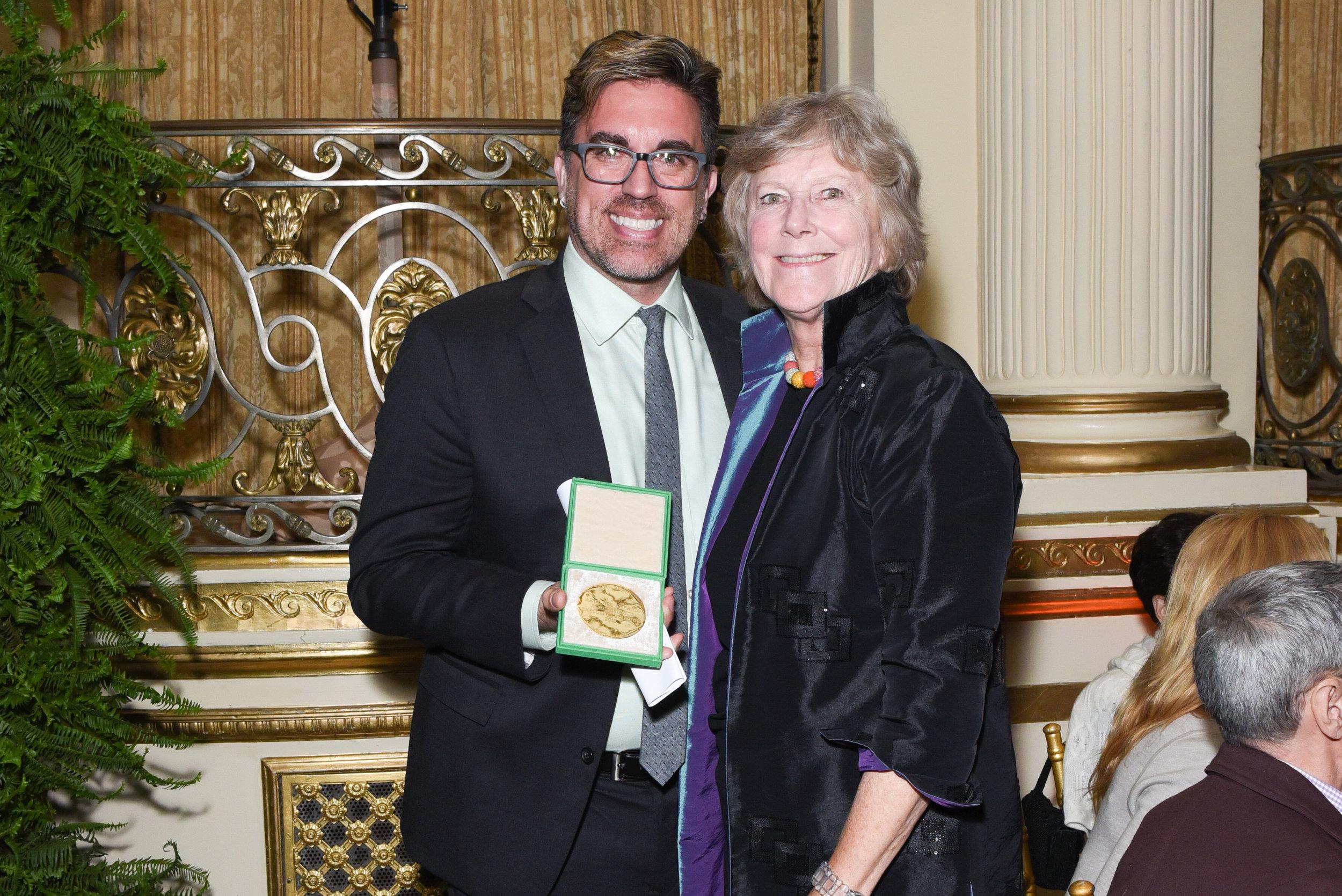Jamie Bennett, Ann Gund==Skowhegan Awards Dinner 2018==The Plaza Hotel, New York, NY==April 24, 2018==�Patrick McMullan==Photo - Presley Ann/PMC====