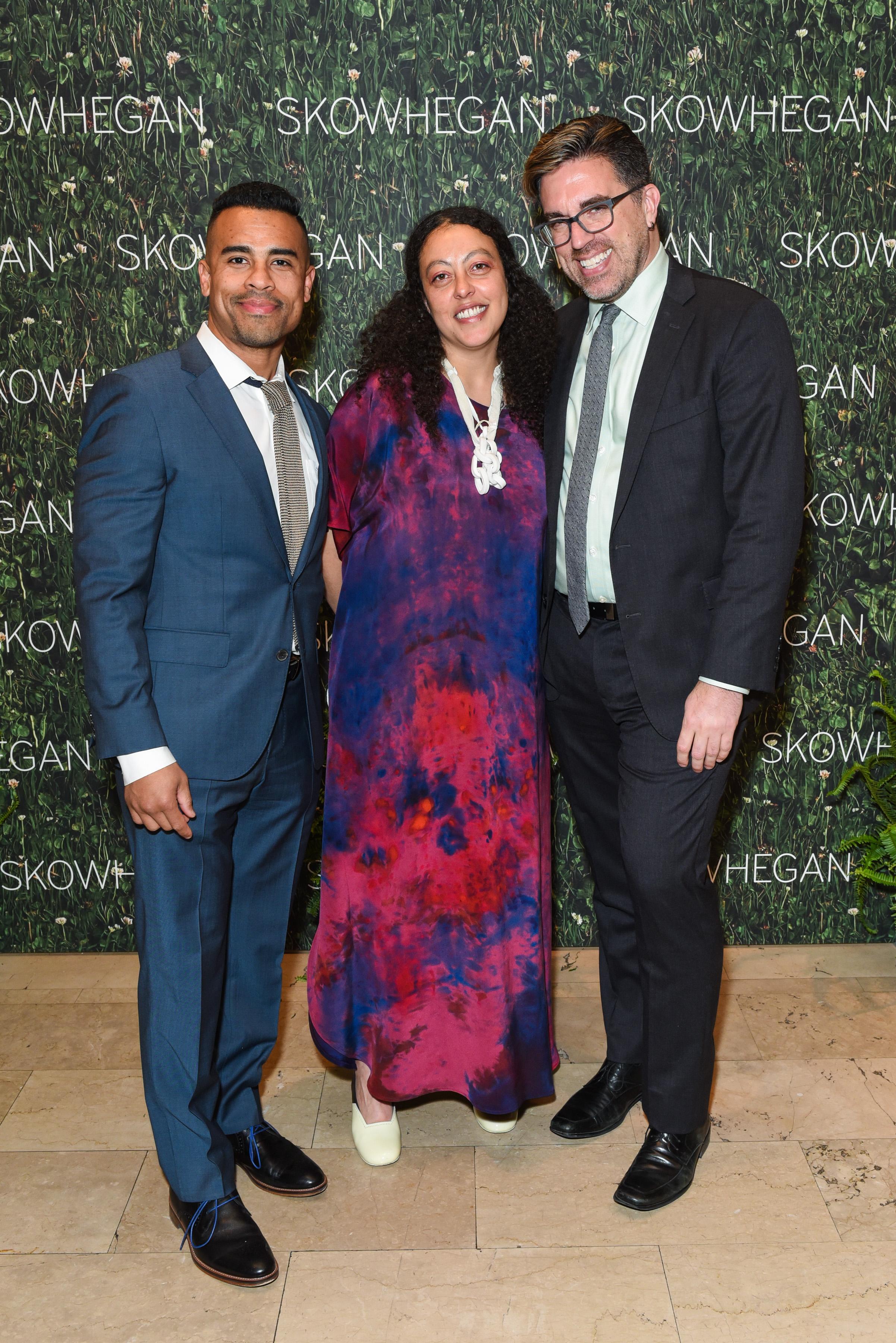 Shaun Leonardo, Sarah Workneh, Jamie Bennett==Skowhegan Awards Dinner 2018==The Plaza Hotel, New York, NY==April 24, 2018==�Patrick McMullan==Photo - Presley Ann/PMC====