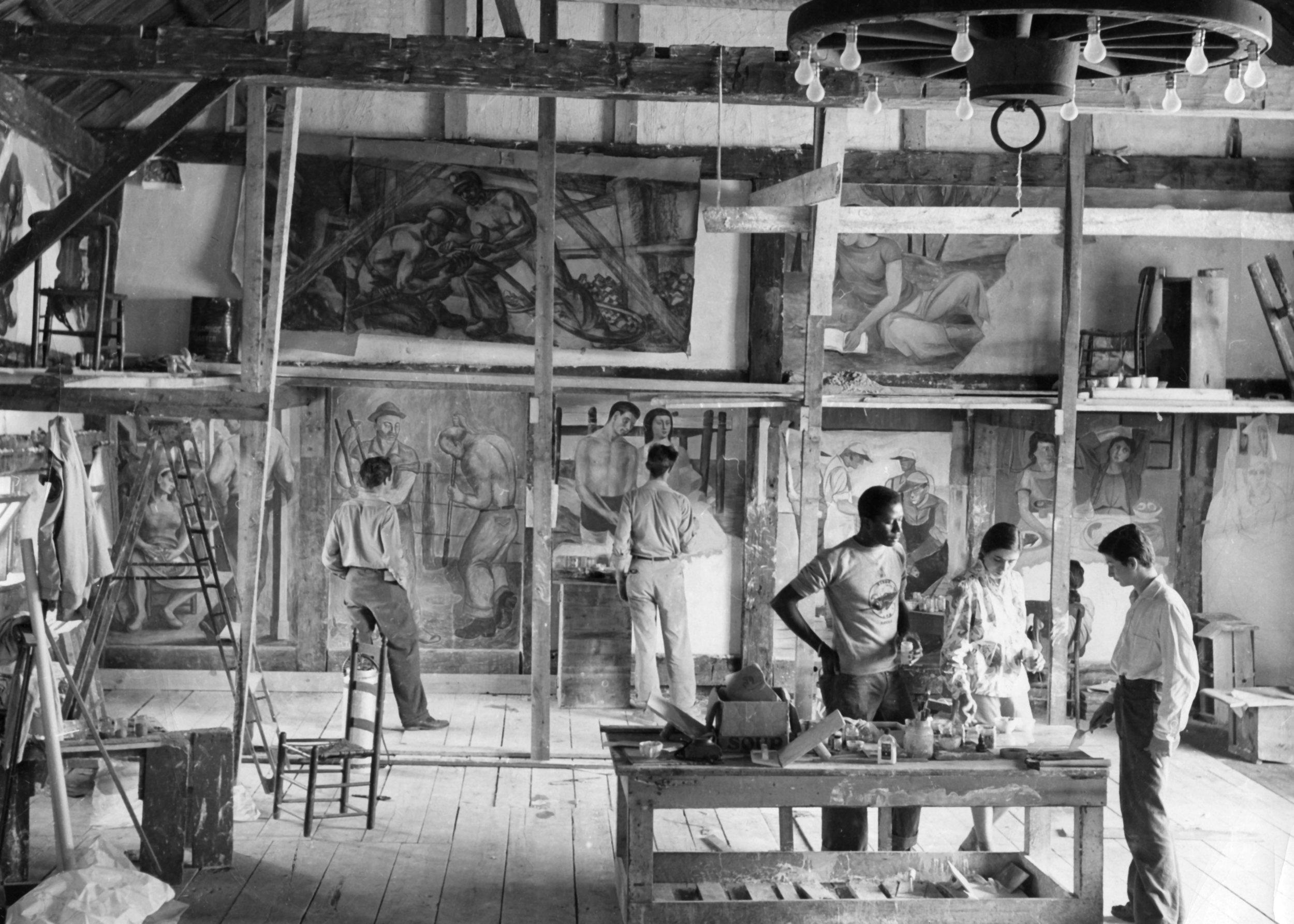 Pariticipants in the Old Dominion Fresco Barn, 1947.