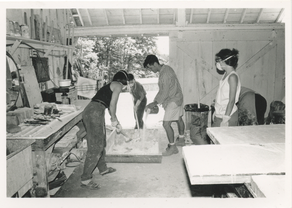 Participants in the fresco shop, 1984.