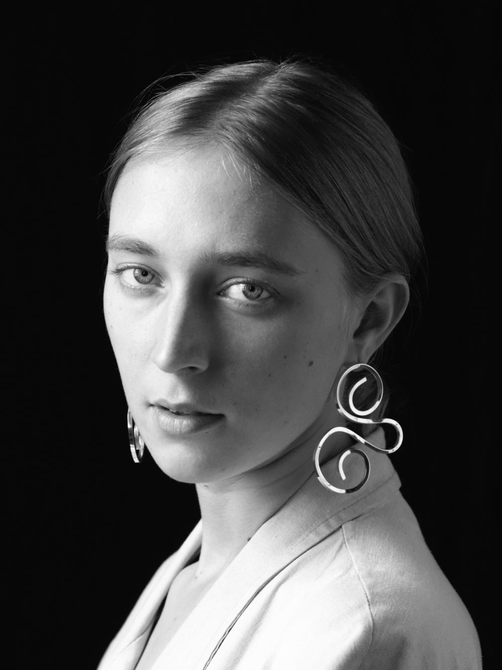 Nu-Mode Magazine Sara Robertsson Sign Earrings