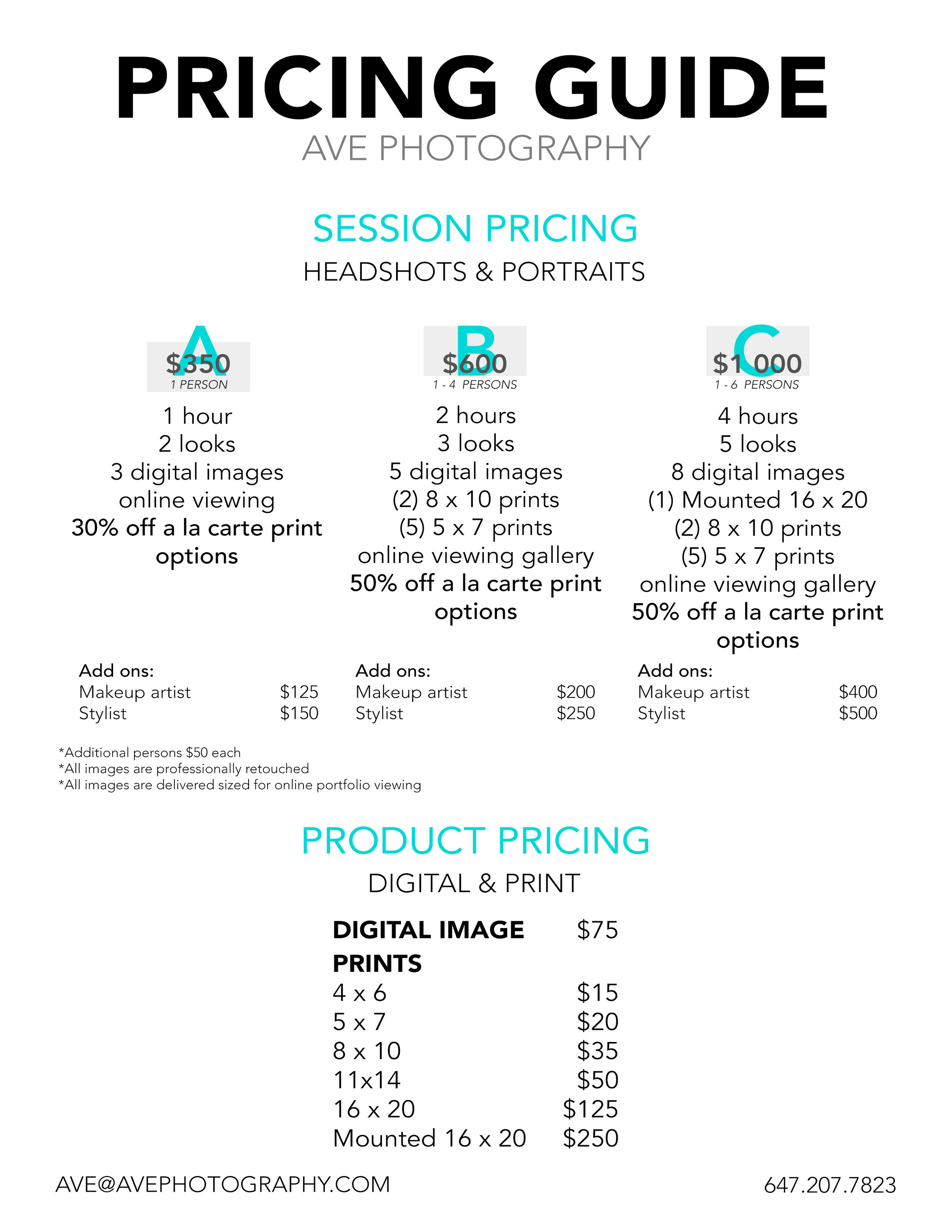 PRICING GUIDE - HEADSHOT PORTRAIT - 2019.jpg
