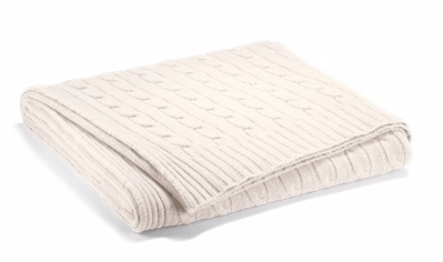 Ralph Lauren Home Cable Cashmere Throw Blanket  $595.00